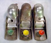 3 Stanley Tools S-18 Sweetheart Steel Block Plane Lot Antique Parts Usa S18