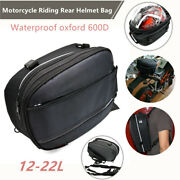 Motorcycle Riding Helmet Bags Tail Seat Back Saddle Shoulder Backpack Rain Cover