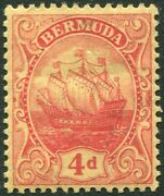 Bermuda-1919 4d Red/yellow Sg 49a Mounted Mint V37231