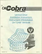 Omc Outboard Marine Corp 1987 Cobra Vertical Drive Install Instructions 985777