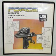Us Marine Power Force Outboards 5 Hp Service Manual Binder Part No. Ob4267a