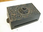 Early Cast Iron Victorian Ringer Door Bell Box Signal Ornate Steampunk Decor