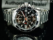 Menand039s 45mm Pilot Specialty Chronograph Black Dial Silver Tone Ss Watch