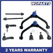 8pcs Front Upper Control Arm Lower Ball Joint Tierod Fit For Jeep Liberty 02-04