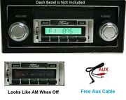 1973-1974 Ford Truck Radio W/ Ipod Dock And Free Aux Cable 630 Ii Stereo