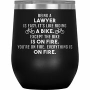 Lawyer Wine Tumbler Glass Mug Cup Funny Gifts For Women Men Her Attorney P-89p