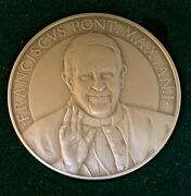Annual Papal Medal - Silver Mint - 1st Year Pope Francis Pontificate Vatican