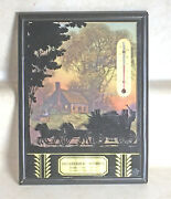 Vintage Advertising Silhouette Thermometer Picture Frame Caruthers Missouri