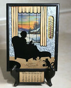 Vintage Advertising Silhouette Thermometer Calendar Picture Frame Buffalo Ny