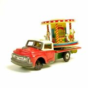 nomura Toy Tinplate Friction Carousel On The Truck Made In Japan Worldshipping