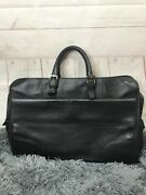 Authentic Briefcases Black Leather Bag Series Number See Description