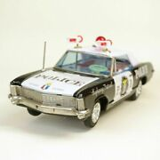 Bandai Tin Highway Patrol Car With/pliceman Figure/outer Box Made In Japan Toy