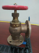 40 Mm 1-1/2 Bronze Brass Marine Flanged Angle Valve Ship Wwm World Wide Metric