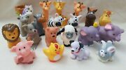Lot Of 20 Fisher Price Little People Animals Horse Dog Zebra Giffare Bunny More