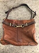 Coach Authentic Brown Leather Hobo Carryall Handbags D0869-12464