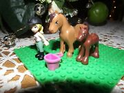 Lego Friends Horse And Colt With Girl With Riding Helmet