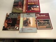 5 Woodworking Books,router,lathe,finish Carpentry, The New Yankee Workshop...
