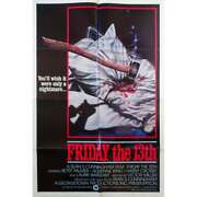 Friday The 13th Original Movie Poster Intand039l - 27x41 In. - 1980 - Sean S. Cunning