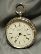 Pocket Watch Kw Centre Seconds Chronograph 21135 George Williams Sterling Case