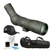 Vortex Optics Razor Hd 22-48x65 Spotting Scope Angled With Fitted Case And Hat