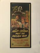 Abbott And Costello Meet The Invisible Man 1951 Original Daybill Poster