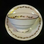 Lenox 8pc Footed Cup N Saucer Sets. Golden Wreath