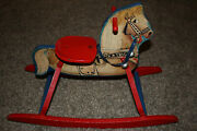 Vintage 1950and039s Roy Rogers / Trigger Metal And Wood Ride On Toy N N Hill Brass Co