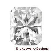 3.90 Ct Radiant Moissanite Forever One Ghi - From Charles And Colvard
