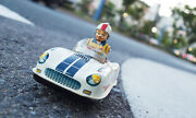 Racing Car Yonezawa 1950s Battery Operated Japan Made Tin Toy Vintage From Japan
