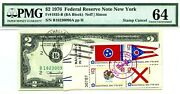 2 Dollars 1976 Stamp Cancel Spirit 76 State Flags Lucky Money Value 3000