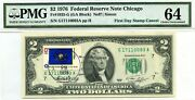 2 Dollars 1976 First Day Stamp Cancel State Flag From Pennsylvania Value 3000