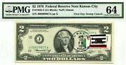 2 Dollars 1976 First Day Stamp Cancel State Flag From California Value 3000
