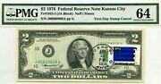 2 Dollars 1976 First Day Stamp Cancel State Flag From Nevada Value 3000