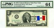 2 Dollars 1976 Stamp Cancel State Flag From Iowa Lucky Money Value 3000