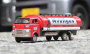 Mobil Tank Truck Marusan Tin Mobilgas Japan Made Friction Red With Box Vintage