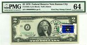 2 Dollars 1976 First Day Stamp Cancel State Flag From Michigan Value 3000