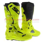 Sidi Atojo Srs Mx Motorcycle Offroad Boots Black Gold Camo Free Shipping Limited