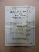 Vintage 1932 Chicago White Sox Spring Training And Roster Tommy Thomas Auto 634