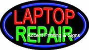 Laptop Repair Handcrafted Real Glasstube Flashing Neon Sign