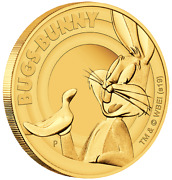 2019 Looney Tunes Bugs Bunny 1/4oz Gold Proof Coin Perth Mint Case And Coa