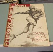 1932 Princeton Tigers Cornell Big Red College Football Game Program Ivy League