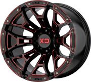 20 Inch Black Red Rims Wheels Lifted Toyota Tacoma 4runner Xd Series Xd841 20x10