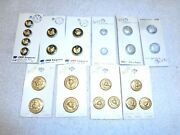 Vintage Lot Of Military Navy Anchor Buttons10 Cards24 Buttonsnew