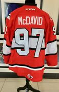 2014 Chl Subway Super Series Game Issued Jersey Connor Mcdavid With Coa