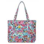 Disney Mickey Mouse And Friends Colorful Garden Iconic Vera Tote By Vera Bradley