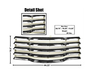 Chevrolet Chevy Pickup Truck Chrome Grille Assembly With Black Back 1947-1953