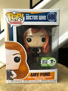 Funko Pop Tv Bbc Doctor Who Amy Pond 600 Rare Eccc Sticker With Pop Protector