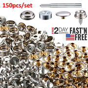 Fastener Boat Cover Stainless Steel Canvas Snap Repair Kit -152 Pieces Sl Marine