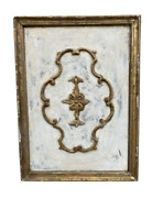 Tuscan Painted Carved Wall Panel - 19th C