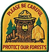 ⫸ Official Smokey Bear Protect Forests Embroidered Patch New Only You Friends D